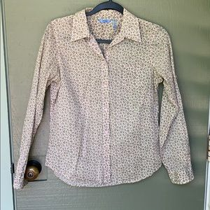 IZOD- size 6 long sleeve floral shirt boho